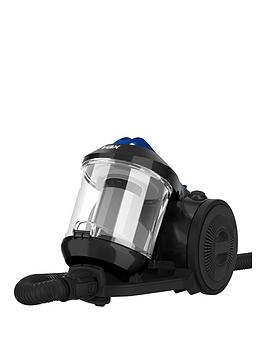 vax-ccmbpdv1p1-power-stretch-pet-cylinder-vacuum-cleaner-black-and-blue