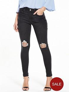miss-selfridge-lizzie-ripped-raw-hem-jean-black