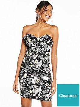 miss-selfridge-floral-bandeau-dress