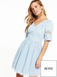 v-by-very-petite-embroidered-denim-skater-dress
