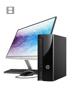 hp-slimline-411-a025na-intelreg-pentiumregnbsp8gb-ramnbsp1tb-hard-drive-desktop-pc-with-22-inch-monitor-black