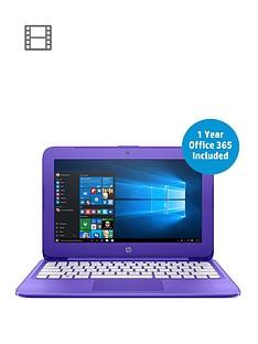hp-stream-11-y002na-intelreg-celeronreg-n3060nbspprocessor-2gb-ram-32gb-storage-116-inch-laptop-with-1-year-office-365-includednbsp--purple