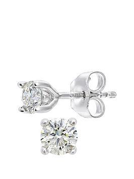 d5a8485d6 Love DIAMOND Love DIAMOND 18ct White Gold 25 Point Diamond Solitaire  Earrings