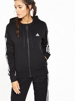 Largest Supplier With Credit Card Full Zip Stripe nbsp Essentials  3 adidas Black Hoodie Buy Cheap Outlet Locations Buy Cheap Factory Outlet Outlet Store For Sale mBndVpBg