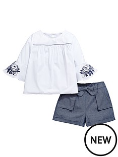 v-by-very-girls-smock-floral-print-sleeve-top-and-shorts-set-2-piece