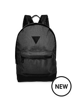 river-island-mens-black-nylon-rucksack