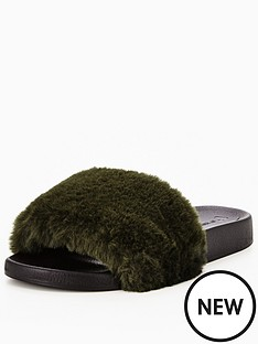 v-by-very-tribe-fluffy-slider-khaki
