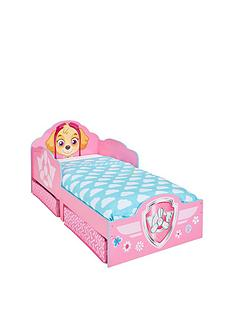 paw-patrol-paw-patrol-skye-toddler-bed-with-underbed-storage-by-hello-home