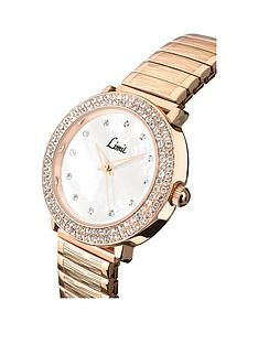 limit-limit-mother-of-pearl-dial-rose-tone-braclet-ladies-watch
