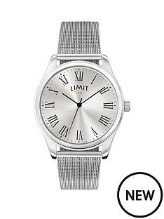 limit-limit-silver-tone-dial-silver-mesh-bracelet-mens-watch