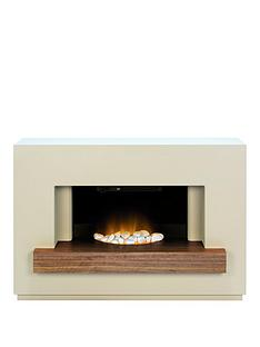 adam-fire-surrounds-sambronbspfireplace-suite-in-stone-effect-with-walnut-shelf