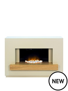 adam-fire-surrounds-sambro-fireplace-suite-in-stone-effect-with-oak-shelf