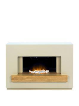 adam-fires-fireplaces-sambro-fireplace-suite-in-stone-effect-with-oak-shelf