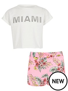 river-island-girls-white-039miami039-t-shirt-and-shorts-outfit