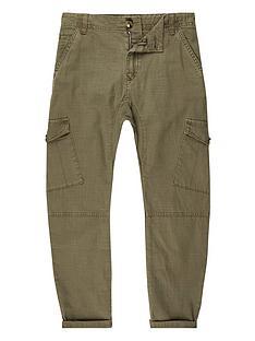river-island-boys-khaki-cargo-trousers
