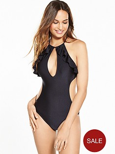 v-by-very-frill-halter-neck-swimsuit-black