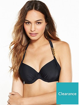 6bd04c8dbd V by Very Trim Detail Underwired Bikini Top - Black ...