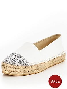 v-by-very-evelyn-glitter-toe-cap-espadrille-white