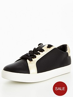 v-by-very-street-metallic-trainer-black