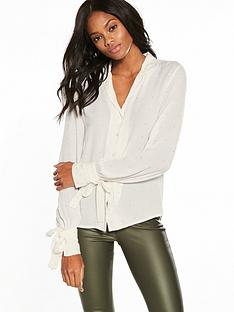 v-by-very-beaded-tie-cuff-blouse