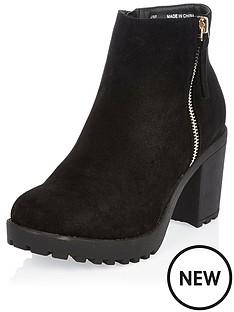 river-island-river-island-ikra-zip-tab-ankle-boot-black