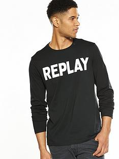replay-large-logo-long-sleeve-tshirt
