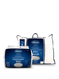 silentnight-impress-memory-foam-mattress-topper-and-pillow-bundle