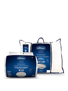 silentnight-impress-memory-foam-mattress-topper-and-pair-of-pillows-bundle