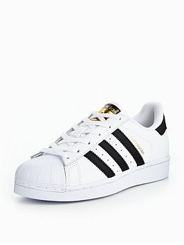 adidas Originals Superstar Junior Trainer - White ... ebd543c1a