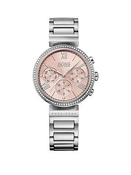 boss-classic-pink-chronograph-dial-stainless-steel-bracelet-ladies-watch