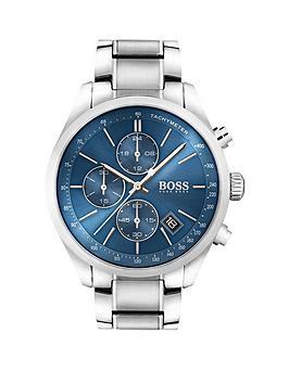 boss-boss-black-grand-prix-blue-chronograph-dial-stainless-steel-bracelet-mens-watch