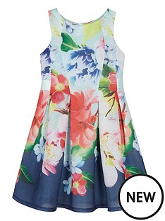 baker-by-ted-baker-girls-neoprene-floral-pleated-dress