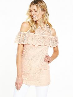v-by-very-lace-frill-tunic-cold-shoulder-top