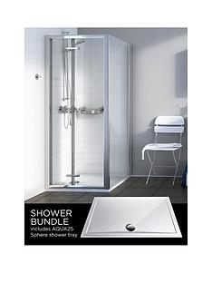 aqualux-source-bi-fold-door-side-panel-aq25-sphere-shower-tray-800-x-800mm