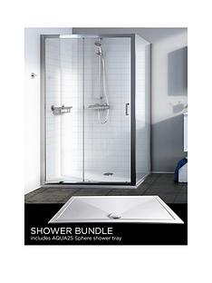 aqualux-source-sliding-door-side-panel-aq25-sphere-shower-tray-1200-x-900mm