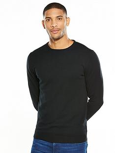 selected-homme-soft-touch-crew-neck-jumper