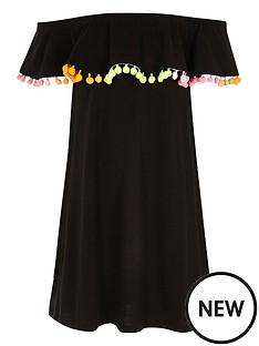 river-island-girls-double-layer-pom-pom-midi-dress