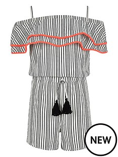 river-island-girls-white-stripe-pom-pom-trim-playsuit