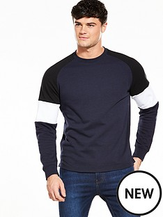 v-by-very-mens-crew-neck-panelled-sweat-top