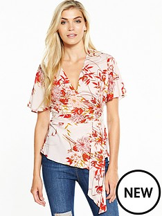 v-by-very-angel-sleeve-wrap-blouse