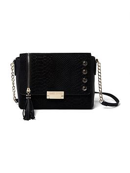 river-island-river-island-fold-over-stud-amp-tassle-detail-crossbody-bag
