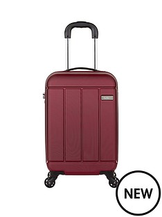 antler-pluto-56cm-4-wheel-spinner-cabin-case-red