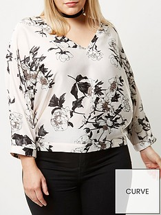ri-plus-pink-floral-tie-sleeve-top