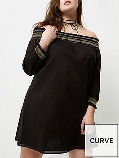 ri-plus-black-bardot-dress