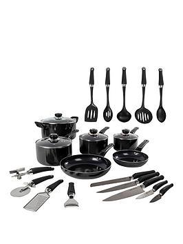 morphy-richards-equip-20-piece-cookware-set-black