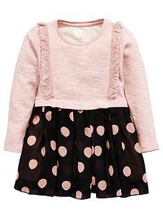 mini-v-by-very-toddler-girls-frill-sweat-amp-spot-gorgette-skirt-dress