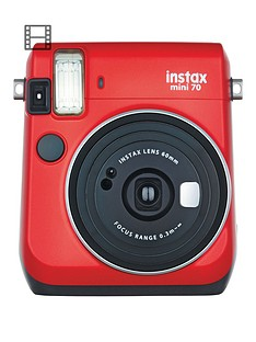 ee4c9a09ea22 Fujifilm Instax Instax Mini 70 Instant Camera with 10 or 30 Pack of Paper -  Red