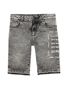 river-island-boys-grey-dylan-acid-wash-skinny-denim-shorts