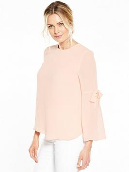 v-by-very-tie-bell-sleeve-blouse
