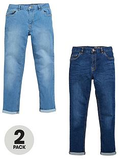 v-by-very-boys-light-wash-skinny-jeans-2-pack